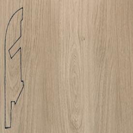 Плинтус доска дубовая светло-серая лакированная 1304