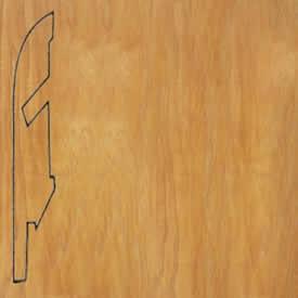 Плинтус доска натурального дикого клена лакированная 1014
