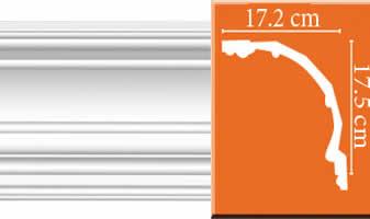 Плинтус потолочный гладкий B089