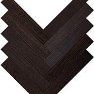 Parquet Plaque Венгерская елка Рустик  Дуб темно-коричневый (120)