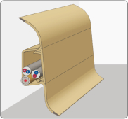 Плинтус пластиковый с кабель-каналом в цвет