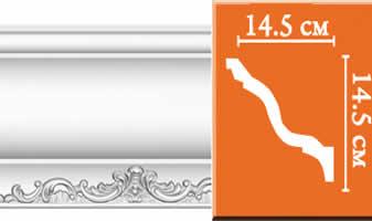 Плинтус потолочный с рисунком A109
